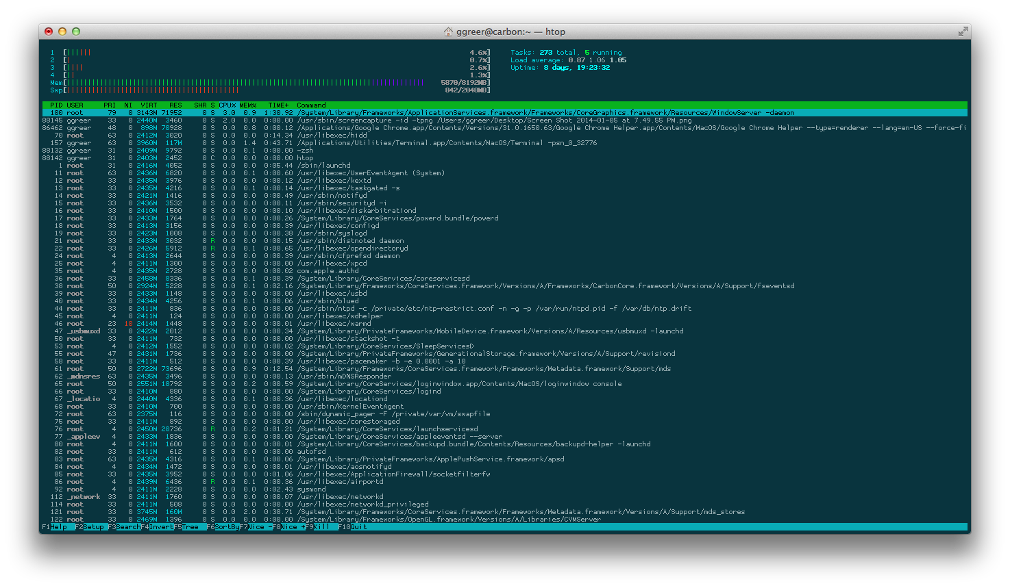 Proggy Tiny in Terminal.app