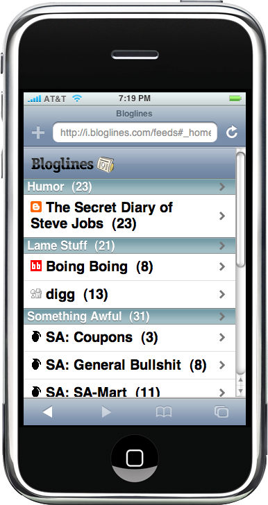 iBloglines Feed List
